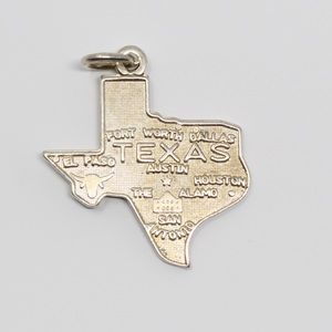 VINTAGE Sterling Silver Texas State Souvenir Charm
